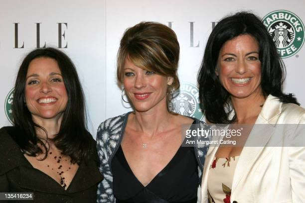 Julia Louis-Dreyfus and Roberta Myers and Laurie David