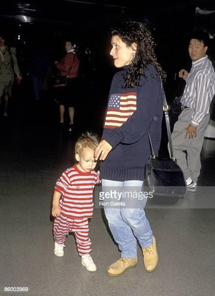 Julia LouisDreyfus and son