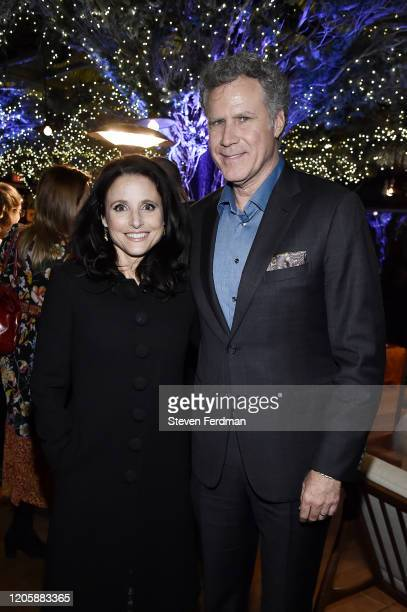 Julia LouisDreyfus and Will Ferrell attend the Downhill New York premiere after party at Eataly on February 12 2020 in New York City