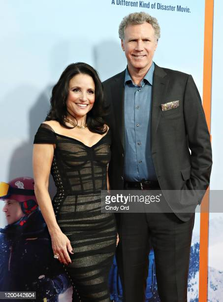 Julia LouisDreyfus and Will Ferrell attend the premiere of Downhill at SVA Theater on February 12 2020 in New York City