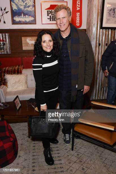 Julia Louis-Dreyfus and Will Ferrell of 'Downhill' attend the Pizza Hut x Legion M Lounge during Sundance Film Festival on January 25, 2020 in Park...
