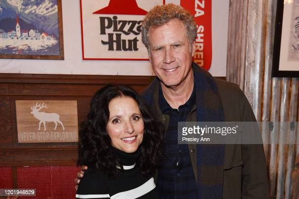 Julia LouisDreyfus and Will Ferrell of 'Downhill' attend the Pizza Hut x Legion M Lounge during Sundance Film Festival on January 25 2020 in Park...