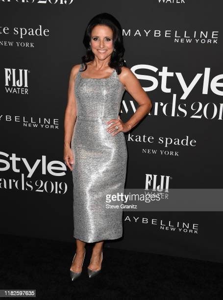 Julia Louis-Dreyfus arrives at the 2019 InStyle Awards at The Getty Center on October 21, 2019 in Los Angeles, California.