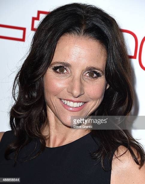 Julia LouisDreyfus arrives at the Audi Celebrates Emmys Week 2015 at Cecconi's on September 17 2015 in West Hollywood California