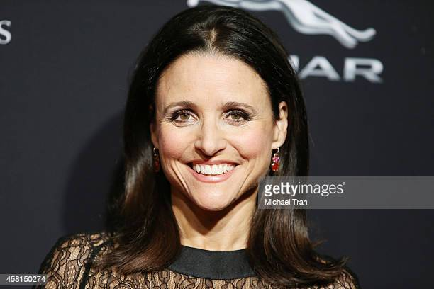 Julia LouisDreyfus arrives at the BAFTA Los Angeles Jaguar Britannia Awards held at The Beverly Hilton Hotel on October 30 2014 in Beverly Hills...