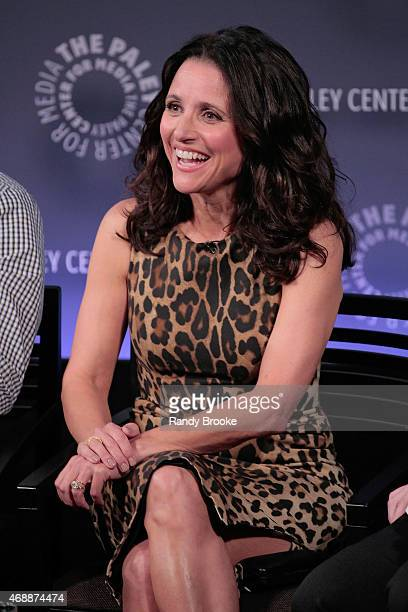 Julia LouisDreyfus at the panel disscussion during The Paley Center For Media Hosts An Evening With The Cast Of 'VEEP' at Paley Center For Media on...