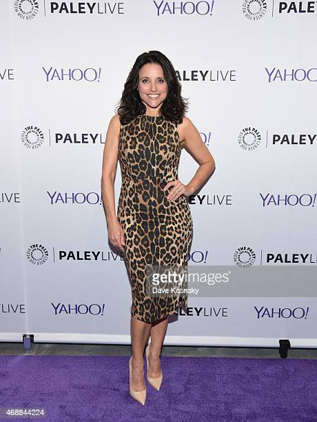 Julia LouisDreyfus attends as The Paley Center for Media hosts an evening with the cast of VEEP at Paley Center For Media on April 7 2015 in New York...