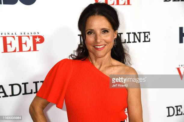 "Julia Louis-Dreyfus attends HBO FYC for ""VEEP"" at the Landmark Theaters on August 20, 2019 in Los Angeles, California."