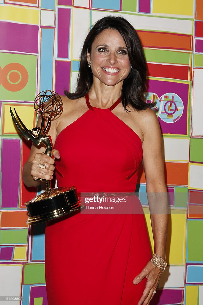 Julia Louis-Dreyfus attends HBO's 2014 Emmy after party at The Plaza at the Pacific Design Center on August 25, 2014 in Los Angeles, California.