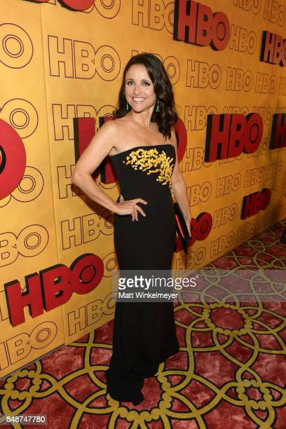 Julia LouisDreyfus attends HBO's Post Emmy Awards Reception at The Plaza at the Pacific Design Center on September 17 2017 in Los Angeles California