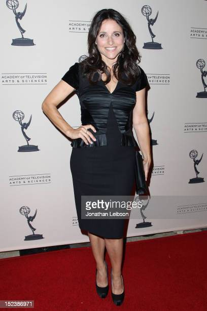 Julia LouisDreyfus attends The Academy Of Television Arts Sciences' Producers Peer Group Reception at Montage Beverly Hills on September 19 2012 in...