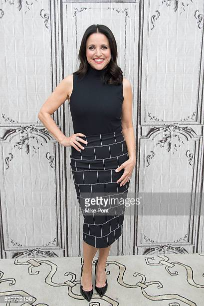"Julia Louis-Dreyfus attends the AOL Build Speaker Series to discuss ""Veep"" at AOL Studios In New York on April 20, 2016 in New York City."