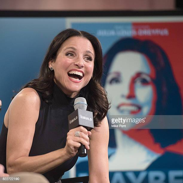 Julia LouisDreyfus attends the AOL Build Speaker Series to discuss 'Veep' at AOL Studios In New York on April 20 2016 in New York City