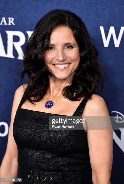 "Julia Louis-Dreyfus attends the Premiere Of Disney And Pixar's ""Onward"" on February 18, 2020 in Hollywood, California."