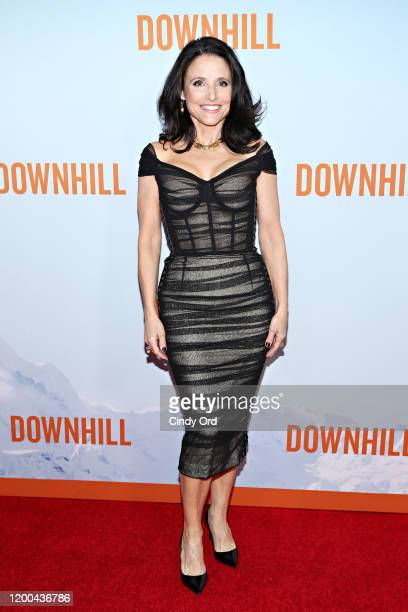 "Julia Louis-Dreyfus attends the premiere of ""Downhill"" at SVA Theater on February 12, 2020 in New York City."