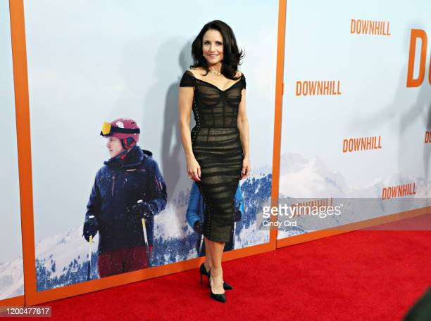 Julia LouisDreyfus attends the premiere of Downhill at SVA Theater on February 12 2020 in New York City