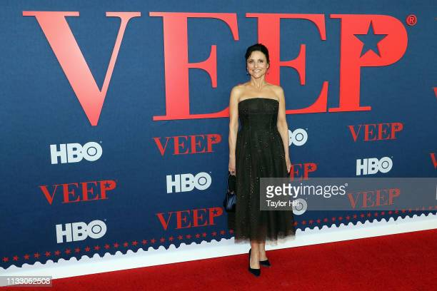 "Julia Louis-Dreyfus attends the premiere of the final season of ""Veep"" at Alice Tully Hall on March 26, 2019 in New York City."