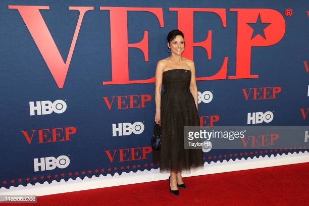 "Julia Louis-Dreyfus attends the premiere of the final season of ""Veep"" at Alice Tully Hall, Lincoln Center on March 26, 2019 in New York City."