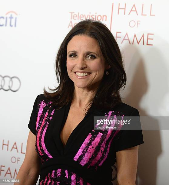 Julia LouisDreyfus attends The Television Academy's 23rd Hall Of Fame Induction Gala at Regent Beverly Wilshire Hotel on March 11 2014 in Beverly...