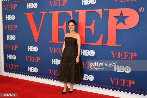 Julia LouisDreyfus attends the Veep Season 7 premiere at Alice Tully Hall Lincoln Center on March 26 2019 in New York City