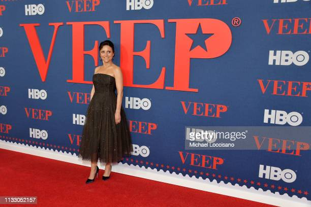 "Julia Louis-Dreyfus attends the ""Veep"" Season 7 premiere at Alice Tully Hall, Lincoln Center on March 26, 2019 in New York City."