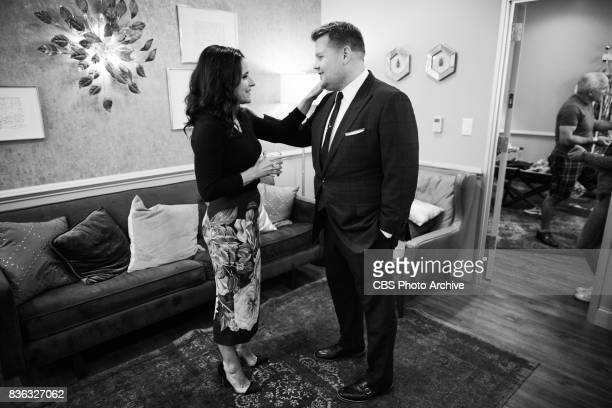 Julia LouisDreyfus chats in the green room with James Corden during 'The Late Late Show with James Corden' Thursday August 17 2017 On The CBS...