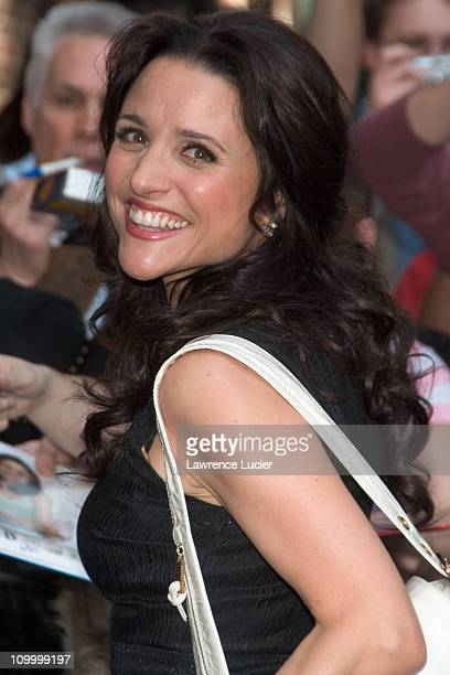 Julia LouisDreyfus during Julia LouisDreyfus Sighting Outside The Late Show With David Letterman April 13 2006 at Ed Sullivan theater in New York NY...