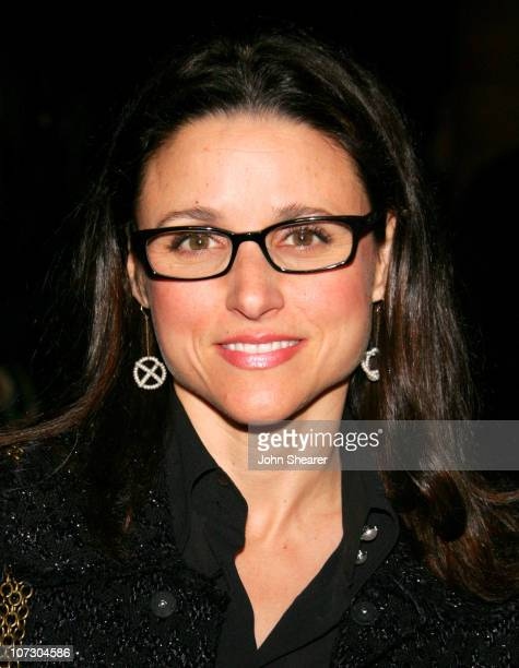 Julia LouisDreyfus during Opening Celebration of Gregory Colbert's 'Ashes and Snow' Exhibition Arrivals at Nomadic Museum in Santa Monica California...
