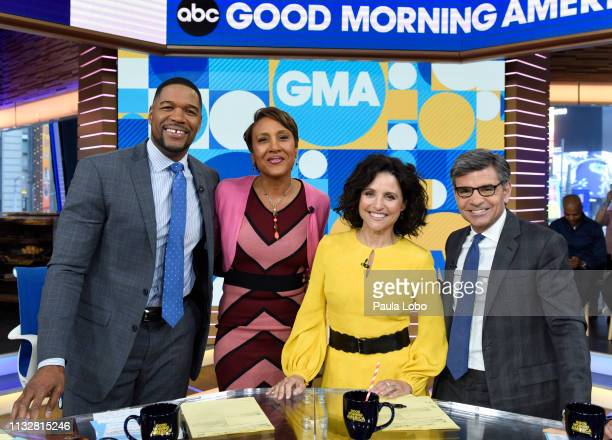 """Julia Louis-Dreyfus is a guest on """"Good Morning America,"""" Monday, March 25 airing on the Walt Disney Television via Getty Images Television Network...."""