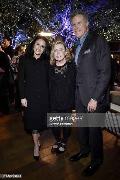 Julia LouisDreyfus Nancy Utley and Will Ferrell attend the Downhill New York premiere after party at Eataly on February 12 2020 in New York City
