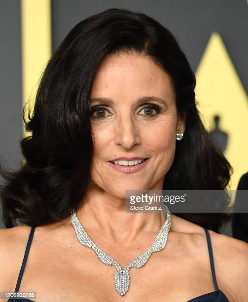 Julia Louis-Dreyfus poses at the 92nd Annual Academy Awards at Hollywood and Highland on February 09, 2020 in Hollywood, California.