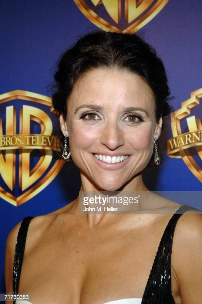 Julia LouisDreyfus won an Emmy for Outstanding Lead Actress in a Comedy Series attends the Warner Brothers Television Emmy Party at Cicada on August...
