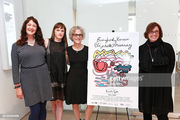 """Julia Lucas, Caroline Goodman Thomases, Jacki Ochs and Kristi Zea attend the premiere of """"Everybody Knows... Elizabeth Murray"""" during the 2016..."""