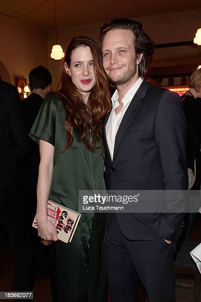 Julia Malik and August Diehl attend the 'Frau Ella' Party at Claerchens Ballhaus on October 8 2013 in Berlin Germany