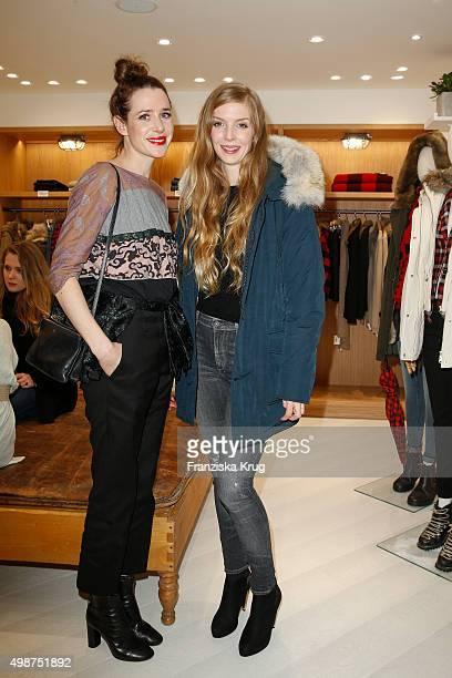 Julia Malik and Pheline Roggan attend the Woolrich Store Opening on November 25 2015 in Berlin Germany