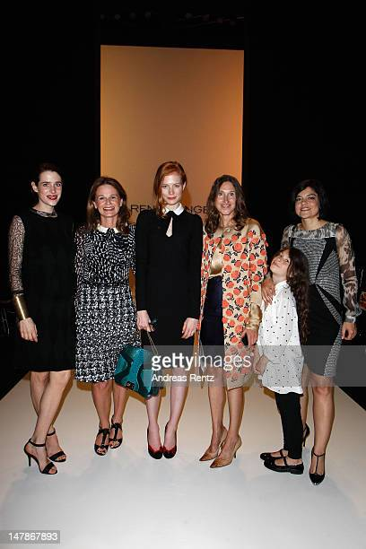 Julia Malik Ariane Guethert Jessica Joffe Annette Weber Jasmin Tabatabai and her daughter Angelina attend the Rena Lange Show at MercedesBenz Fashion...