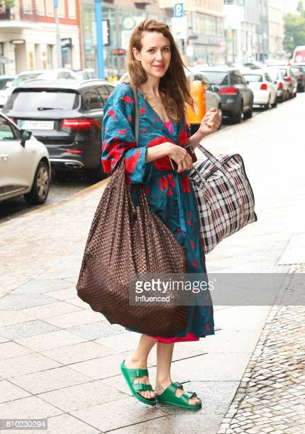 Julia Malik attends the Gala Fashion Brunch Ellington Hotel on July 7 2017 in Berlin Germany