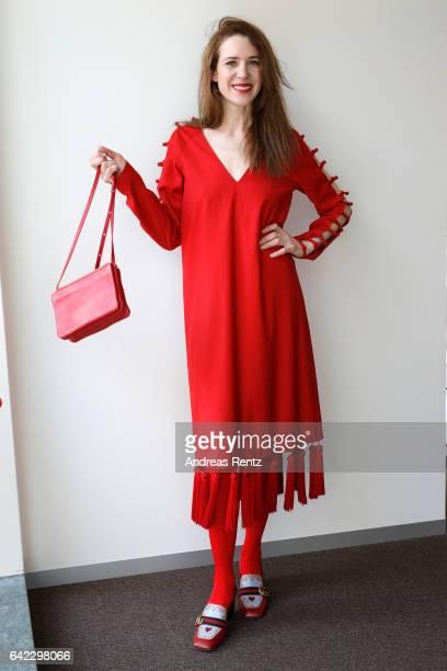 Julia Malik attends the Golden Bear Lounge by Glashuette Original on February 13 2017 in Berlin Germany