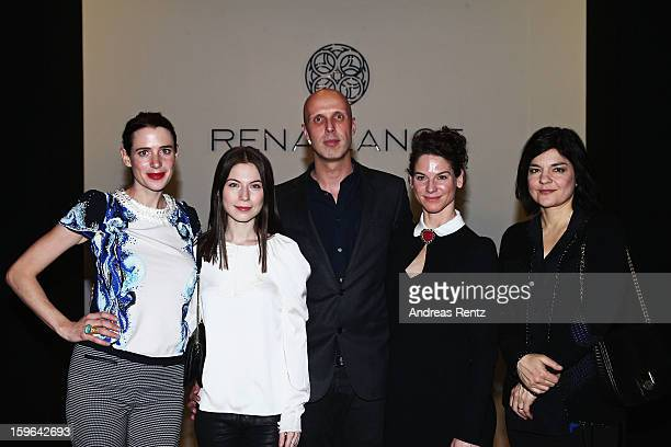 Julia Malik, Nora von Waldstaetten, designer Karsten Fielitz, Bibiana Beglau and Jasmin Tabatabai attend Rena Lange Autumn/Winter 2013/14 fashion...