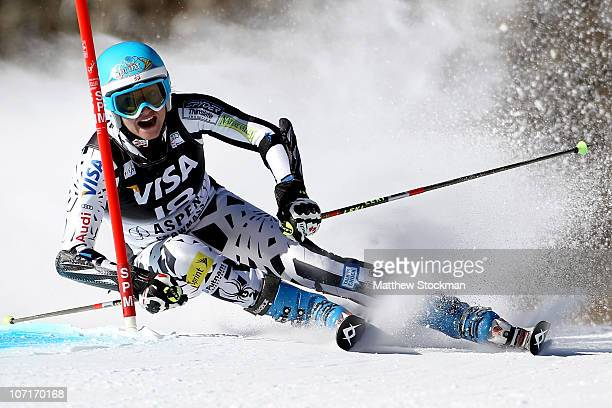Julia Mancuso competes in the first run of the Giant Slalom during the Audi FIS World Cup Aspen Winternational on November 27 2010 in Aspen Colorado