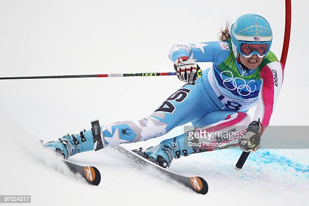 Julia Mancuso of the United States competes during the Ladies Giant Slalom on day 13 of the Vancouver 2010 Winter Olympics at Whistler Creekside on...