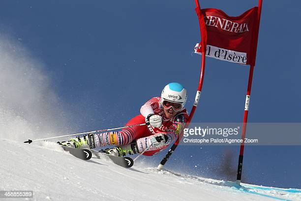 Julia Mancuso of the USA competes during the Audi FIS Alpine Ski World Cup Women's Giant Slalom on December 22 2013 in Val d'Isere France