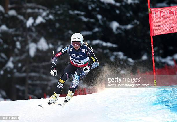 Julia Mancuso of the USA competes during the Audi FIS Alpine Ski World Championships Women's Super Combined on February 08 2013 in Schladming Austria