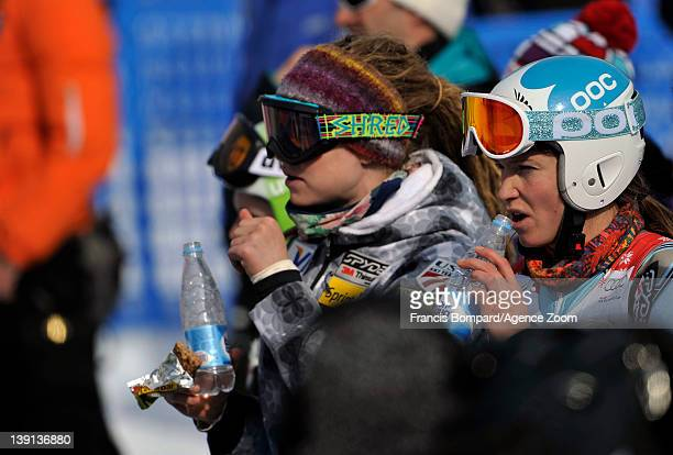 Julia Mancuso of the USA during the Audi FIS Alpine Ski World Cup Women's Downhill Training on February 17 2012 in Sochi Russia