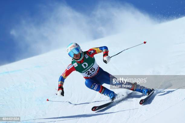 Julia Mancuso of USA competes in the Ladies Downhill training on February 9 2017 in St Moritz Switzerland