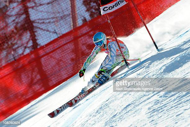 Julia Mancuso of USA during the Audi FIS Alpine Ski World Cup Women's SuperG on January 23 2011 in Cortina d'Ampezzo Italy