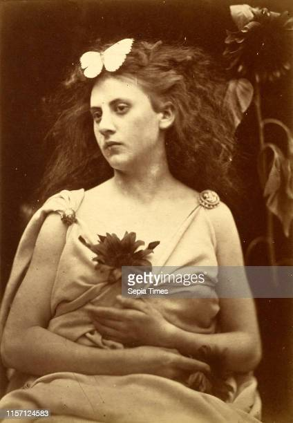 Julia Margaret Cameron , The Sunflower, 1866-1870, albumen print.