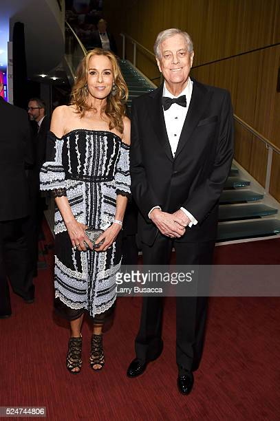 Julia Margaret Flesher and David Koch attend 2016 Time 100 Gala Time's Most Influential People In The World Cocktails at Jazz At Lincoln Center at...