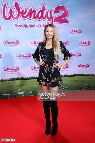 Julia Maria attends the premiere of 'Wendy 2 Der Film' at Cinedom on February 4 2018 in Cologne Germany