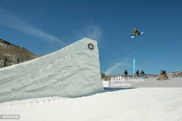 Julia Marino during Girl's slopestyle qualifications of the 2018 Burton US Open on March 7 2018 in Vail Colorado